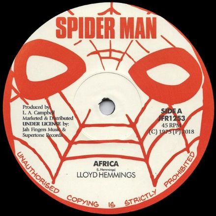 Lloyd Hemmings - Africa / version (Spiderman / Jah Fingers) 12""